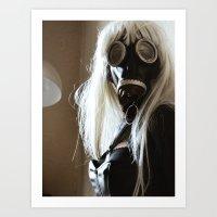 Gas Mask Girl Art Print