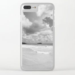 Monochrome Hawaii Clear iPhone Case