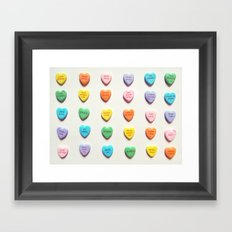 Love Books Framed Art Print