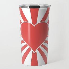 Valentine Heart Red Love Explosion Travel Mug