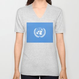 United Nations Flag Unisex V-Neck
