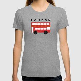 London Double Decker Red Bus T-shirt