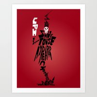 soul eater Art Prints featuring lord death soul eater by Rebecca McGoran