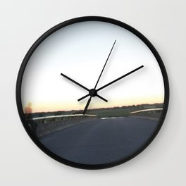Bridge across two planes Wall Clock