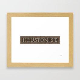 Houston Street Framed Art Print