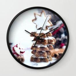 #Christmas #bakery #fresh #cinnamon #Stars Wall Clock