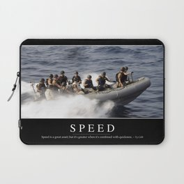 Speed: Inspirational Quote and Motivational Poster Laptop Sleeve