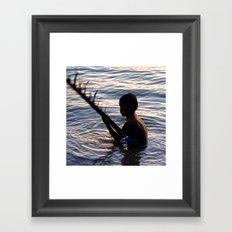 THAILAND - Koh Pangan | Travel | Sea | Children | Nature | Ocean | Dusk | Summer | Photography  Framed Art Print