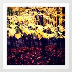 Under The Shade Of Yellow Art Print