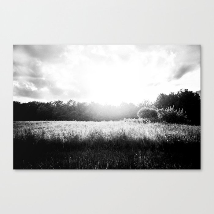 Sun Setting on a Field Canvas Print