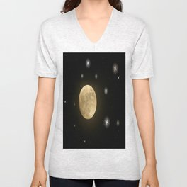 Moon is on Unisex V-Neck