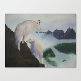 Unfinished Goat Painting Canvas Print