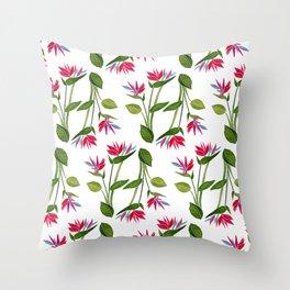 Pink Bird Of Paradise Throw Pillow