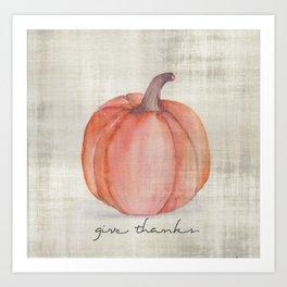 give thanks {watercolor} Art Print