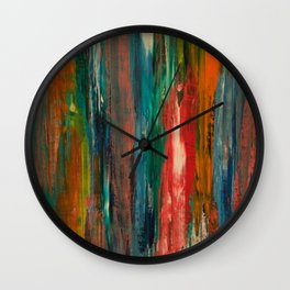 Claire Two (The woman in the paint.) Wall Clock