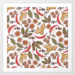 Spices pattern. Art Print