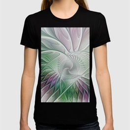 Colorful Fantasy Flower, Abstract Fractal Art T-shirt