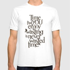 Wasting Time Mens Fitted Tee White SMALL