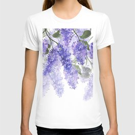 Purple Wisteria Flowers T-shirt