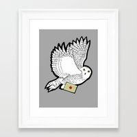 hedwig Framed Art Prints featuring Hedwig by AriesNamarie