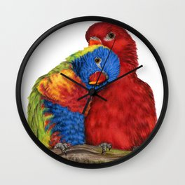 Love You Love Birds Wall Clock