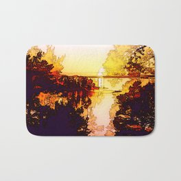 Impression of a sunset Bath Mat