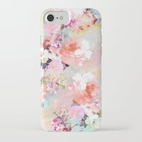 teal iPhone & iPod Cases featuring Love of a Flower by Girly Trend