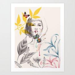 Floral Secret Art Print