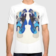 Blue Night MEDIUM White Mens Fitted Tee