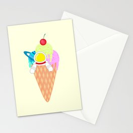 Space Odyssey Ice Cream | Astronaut Ice Cream | Space Ice Cream | Galaxy Ice Cream | pulps of wood Stationery Cards