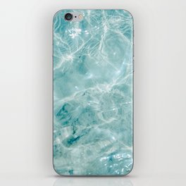 Clear blue water | Colorful ocean photography print | Turquoise sea iPhone Skin
