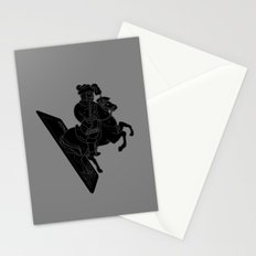 LAST CARD IN THE DECK BLACK Stationery Cards