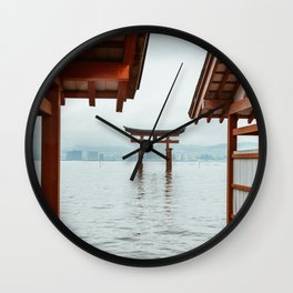 Itsukushima Shrine. Torii gate. Miyajima, Japan. Travel print - Photography wall art. Art print. Wall Clock