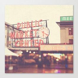 Seattle Pike Place Public Market photograph, 620 Canvas Print
