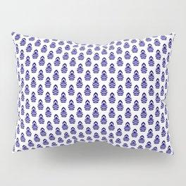Indian Flowers Blockprint 1 (Dark Blue) Pillow Sham