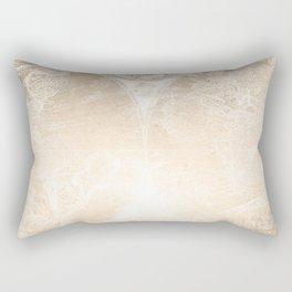Antique World Map White Gold Rectangular Pillow