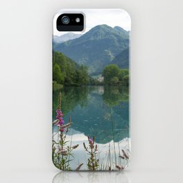 Mountain reflection  on lake iPhone Case