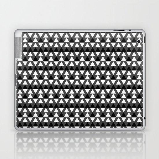 Black & White Triangles Laptop & iPad Skin