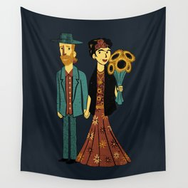 Love is Art Frida Kahlo and Van Gogh Wall Tapestry
