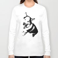 husky Long Sleeve T-shirts featuring Husky Husky by ARTNOIS Magazine