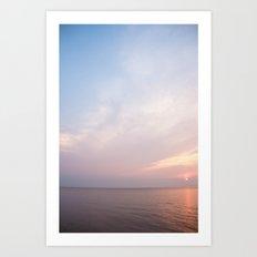 lake erie sunset Art Print