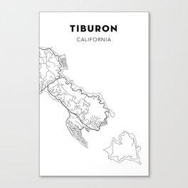 TIBURON MAP PRINT Canvas Print