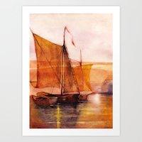 sail Art Prints featuring Sail by Iris V.