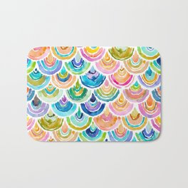 STRANGEBOW Rainbow Mermaid Scallop Bath Mat