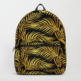 Palm Leaves_Gold and Black Backpack