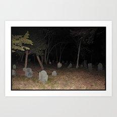 Cemetery Forest Art Print