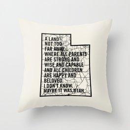 Raising Arizona - Maybe It Was Utah Throw Pillow
