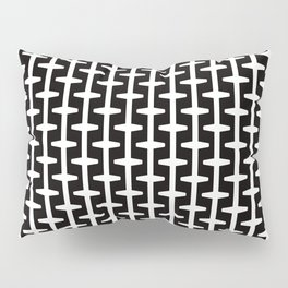 Geometric Pattern 207 (black white) Pillow Sham