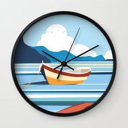 Amalfi Italy travel poster Wall Clock