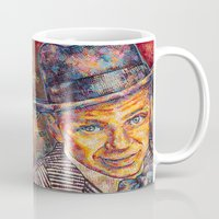 frank sinatra Mugs featuring Frank Sinatra  by Sara Elyse Lehtman